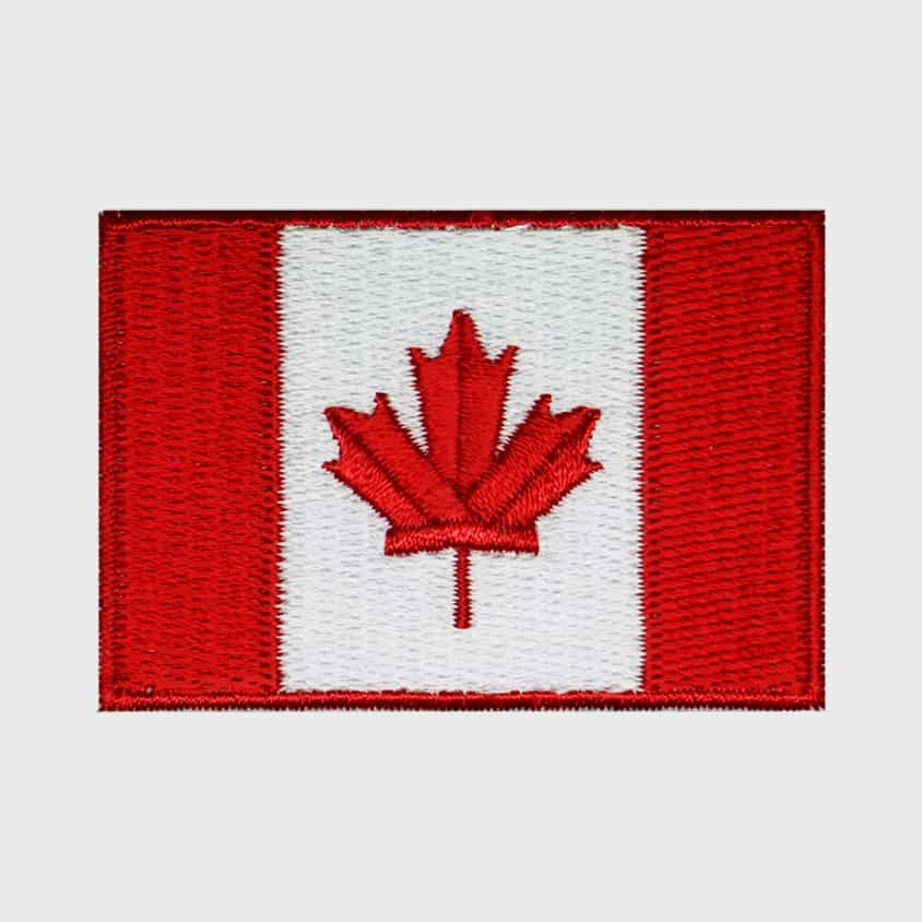 canadese vlag strijkpatch - leukepatches